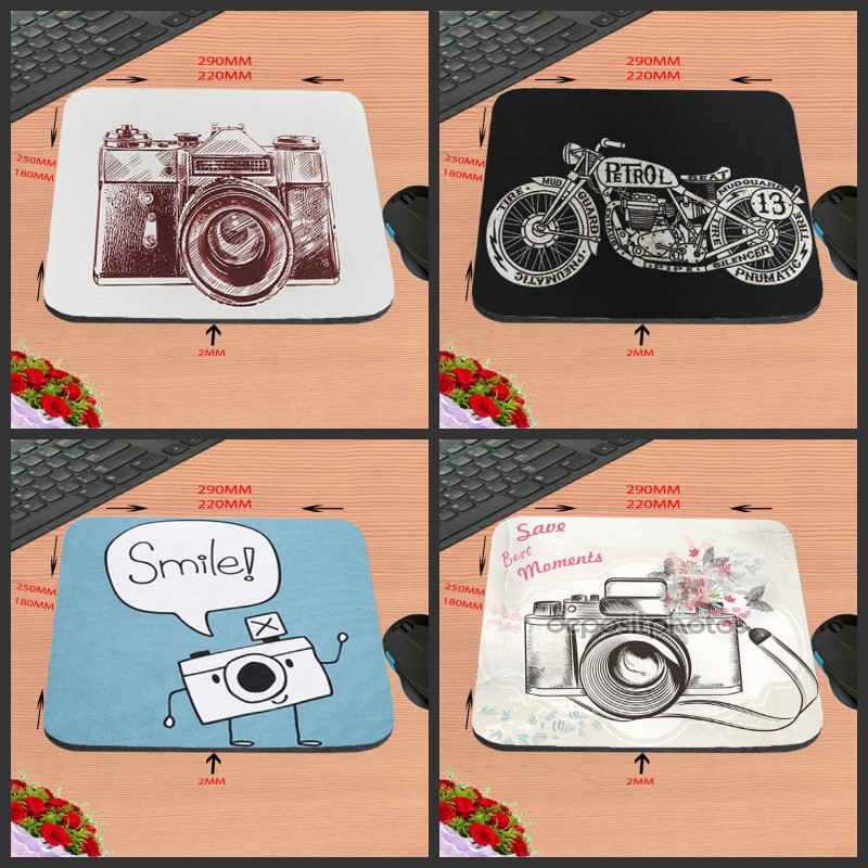 Mairuige Camera Art Custom Silicon Anti-slip Gaming Mousepad Computer Mouse Pad Mat For Optical Mice Trackball Mouse As A Gift