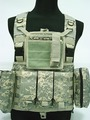 Tactical Commando Chest Harness with map pouch  600D Nylon Tactical Chest rig ACU CP Digital woodland Black Khaki