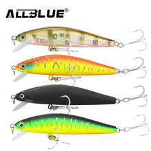 ALLBLUE New Minnow 70mm 6.5g 0.5-1M Dive Artificial Bait Plastic Hard 3D Eyes Fishing Lures Wobbler Fishing Bait Fishing Tackle