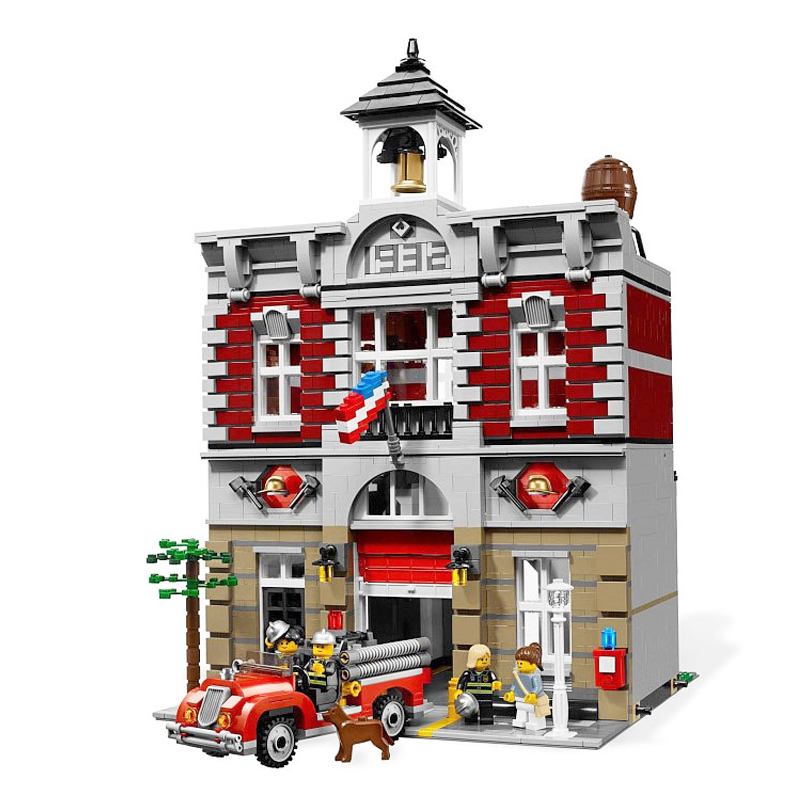 2313pcs Model Doll House Building Kit Blocks City Street Fire Brigade Educational Compatible With legoingly Toys For Children loz mini diamond block world famous architecture financial center swfc shangha china city nanoblock model brick educational toys