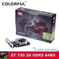 Colorful 2048 mb nvidia geforce gt 730 gpu 2 gb 64bit dvi + vga + hdmi puerto de Tarjeta Gráfica DDR5 PCI-E X8 2.0 Video con Refrigeración ventilador