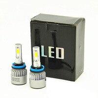 DHL shipping H4 LED H7 H11 H8 9005 9006 HB4 H1 H3 HB3 Auto Car Headlight Bulbs 72W 8000LM Car Styling 6500K led