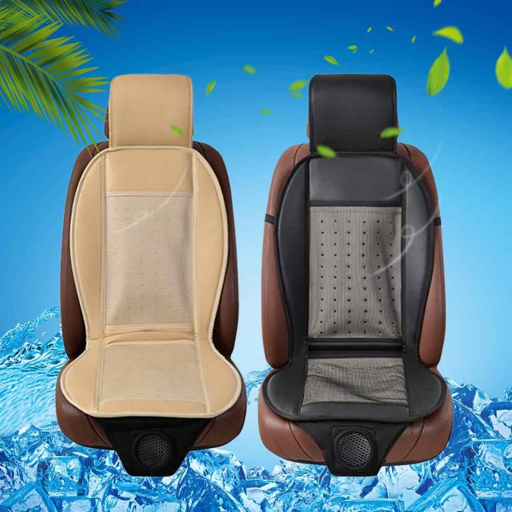 12V سيارة تبريد وسادة الباردة مروحة تكييف الهواء وسادة مقعد فسكوزي تنفس الصيف بارد سادة الهواء التهوية مروحة سيارة مقعد