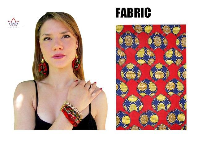 BRW African Print Earrings...