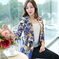2015 spring print design short blazer female slim casual outerwear blazer long-sleeve ladies coat