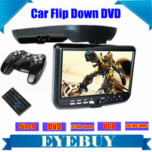 9inch LCD CAR Auto Roof Mount Flip Down Overhead automobile DVD Player Monitor screen TV USB