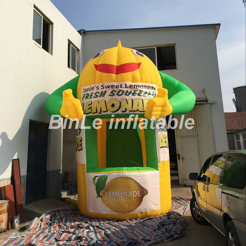 2018 Hot sale giant inflatable lemonade booth lemonade stand kiosk tent for advertising