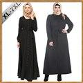 2017 Мода Черный Женщины Мусульманские Платья Плюс Размер 7XL Исламская Одежда Абая Платье Женщины Длинное Платье Элегантный Арабские Одежды Абая