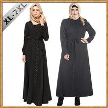 2018 Fashion Black Women Muslim Dresses Plus Size 7XL Islamic Clothing Abaya Dress Women Long Dress Elegant Arab Garment Abaya