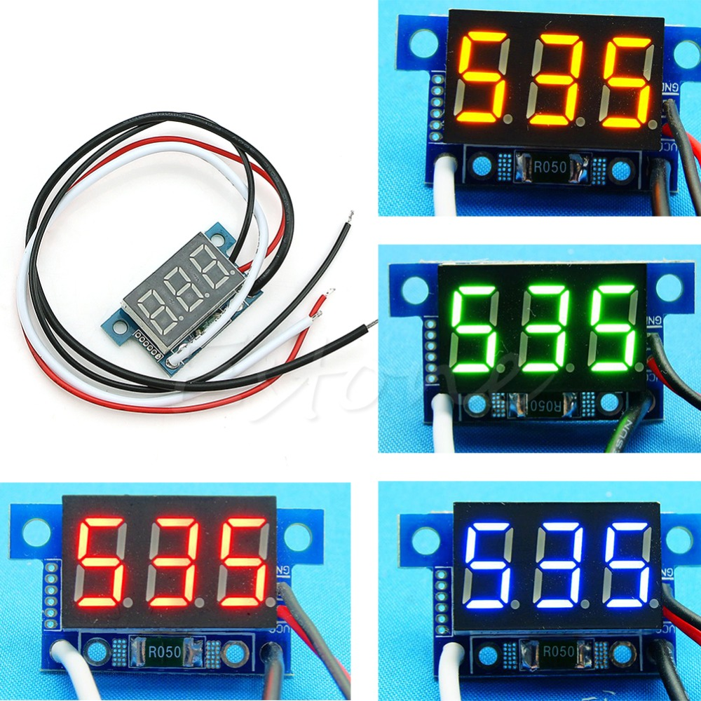 Mini Led 0 999ma Dc 4 30v Digital Panel Ammeter Amp Ampere Meter Wiring Diagram With Wire Current Meters New S08 Drop Ship In From Tools On