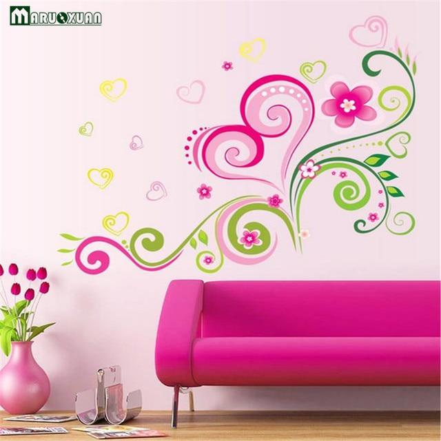 Romantic Living Room Bedroom Decorative Flowers Tv Sofa Background ...