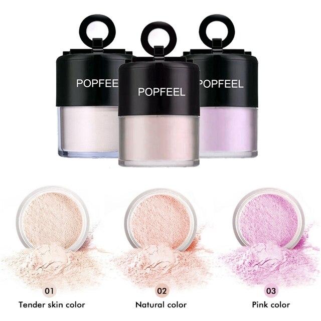 New Popfeel Matte Loose Powder Oil Control Makeup Contour Foundation Powder 3 Colors Bright Concealer Setting Powder TSLM1 5