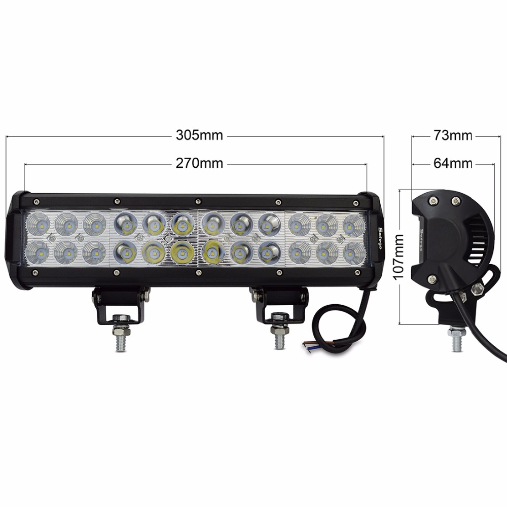 1X72 W 12 v dipimpin pekerjaan ringan bar combo balok desain 24 v 72 - Lampu mobil - Foto 5