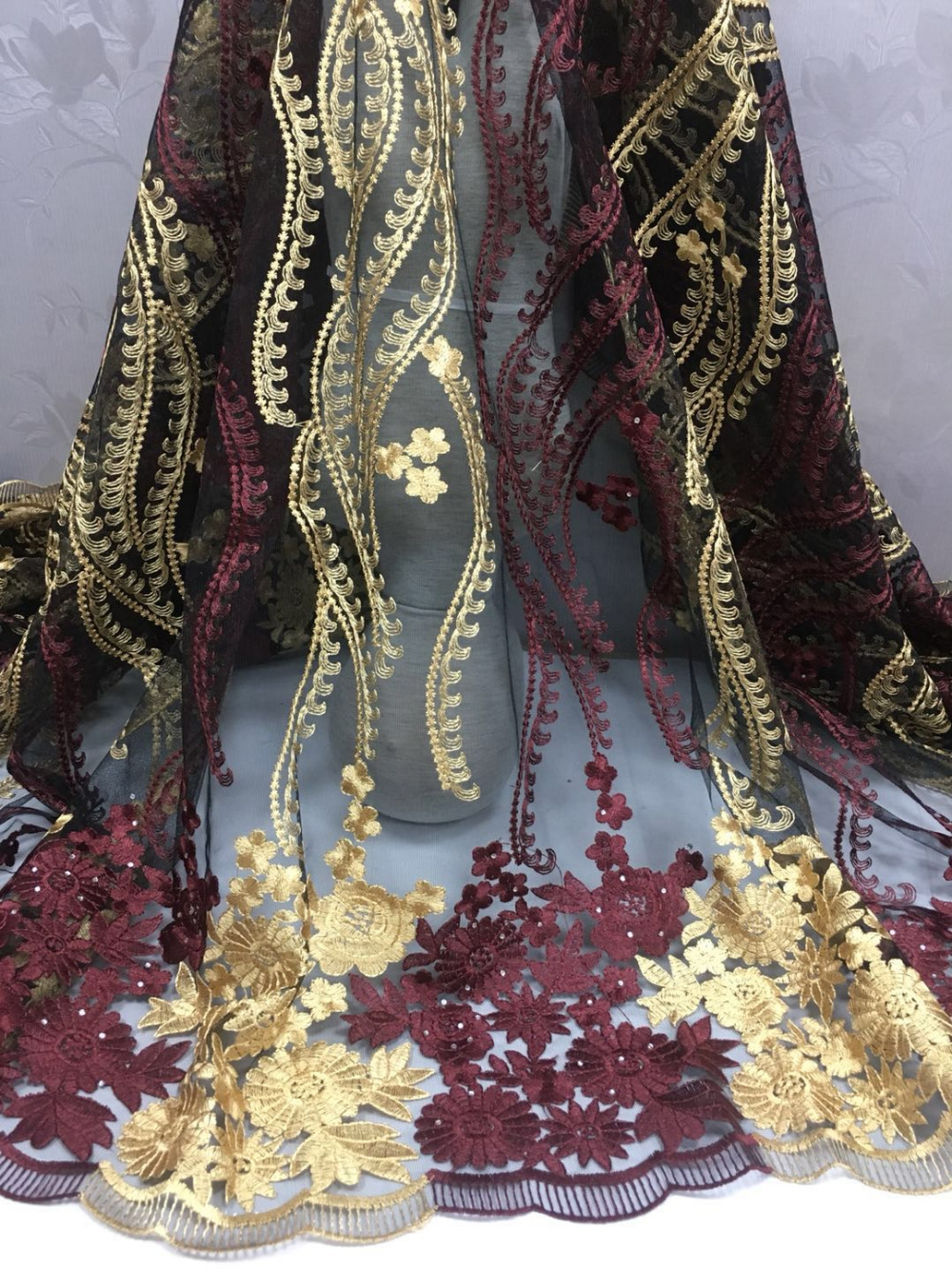 5yard new design french lace purple bridal embroidered tulle lace fabric french lace fabric.latest nigerian laces FC1626-WFA5yard new design french lace purple bridal embroidered tulle lace fabric french lace fabric.latest nigerian laces FC1626-WFA