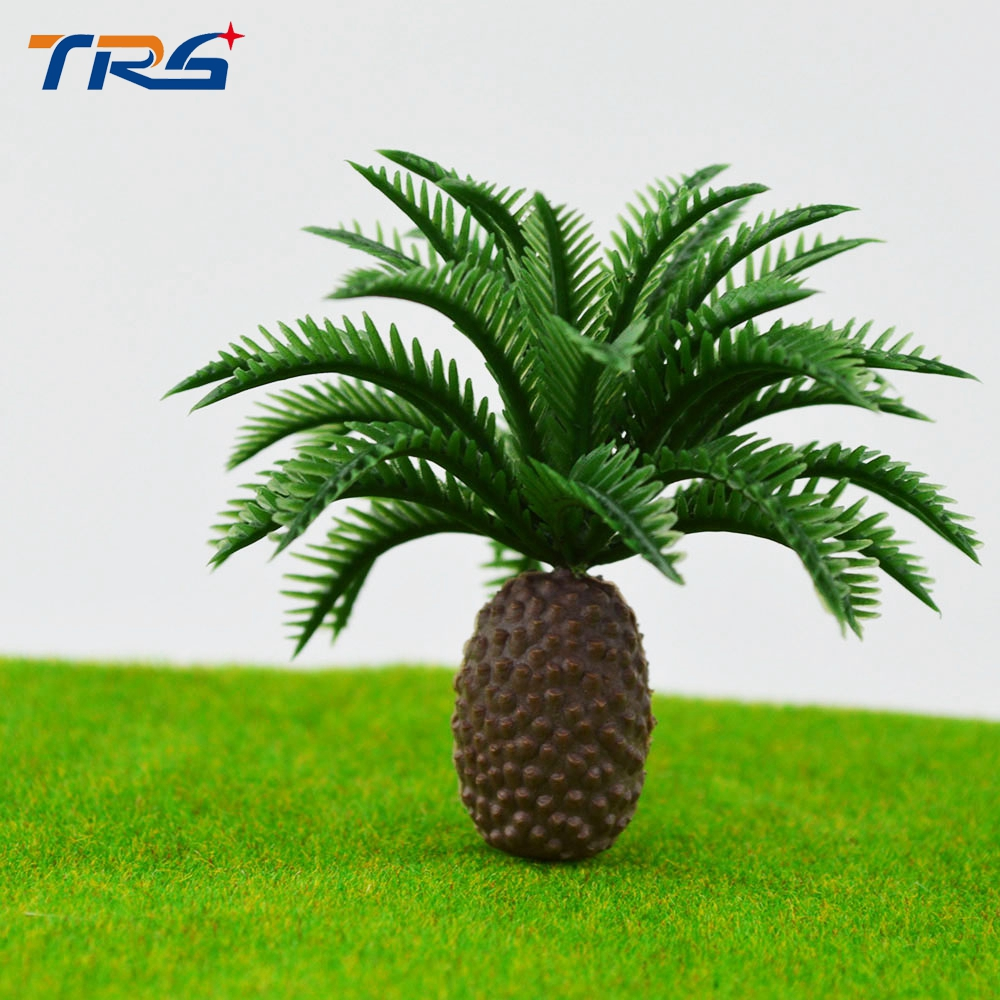 Teraysun 6.5cm scale model train railway scenery palm tree