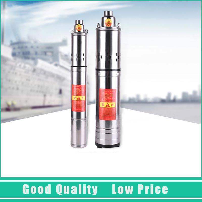 220V AC Submersible Well Water Pump Deep Well Electric Submersible Centrifugal Pump submersible deep water well pump 2 inch 30m submersible pump deep well with ss304 pump body mini electric submersible pump