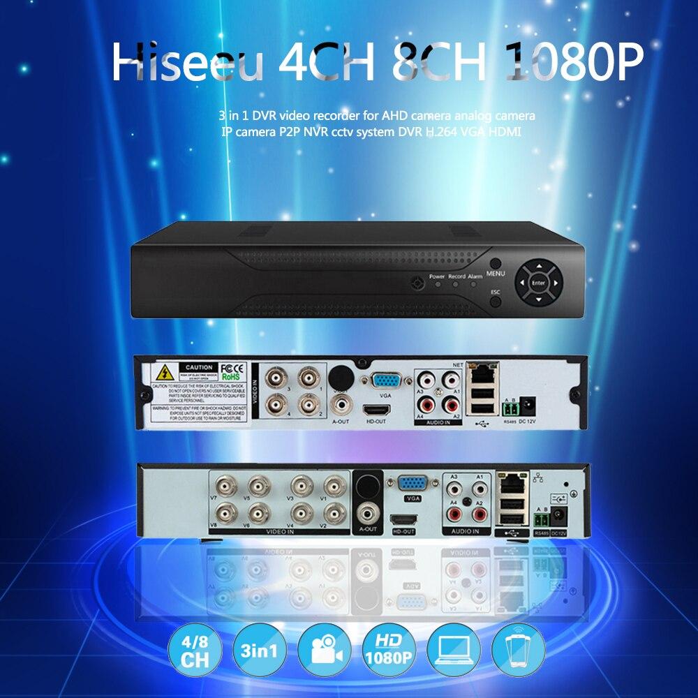 Hiseeu 8CH 960P DVR video recorder for AHD Camera Analog Camera IP camera P2P NVR Cctv System DVR H.264 VGA HDMI Drop Shipping cctv ip camera dvr standalone 960h 8ch sdvr nvr video recorder hdmi security dvr
