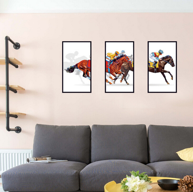 Equestre sport telaio decorazione adesivi murali pittura complementi ...