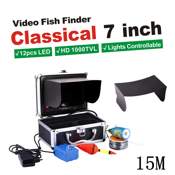 HD SONY CCD 1000 TVL 7 TFT Color LCD Underwater Camera With 15M Cable Fishing Camera CCTV Camera Video Camera Aluminum Case