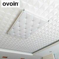 Ceiling 3D White Geometric Wallpaper Roll Textured Vinyl Diamond Shape Wall Paper Wallcoverings