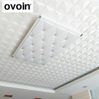 Ceiling 3D White Geometric Wallpaper Roll Textured Vinyl Diamond Shape Wall Paper Wallcoverings