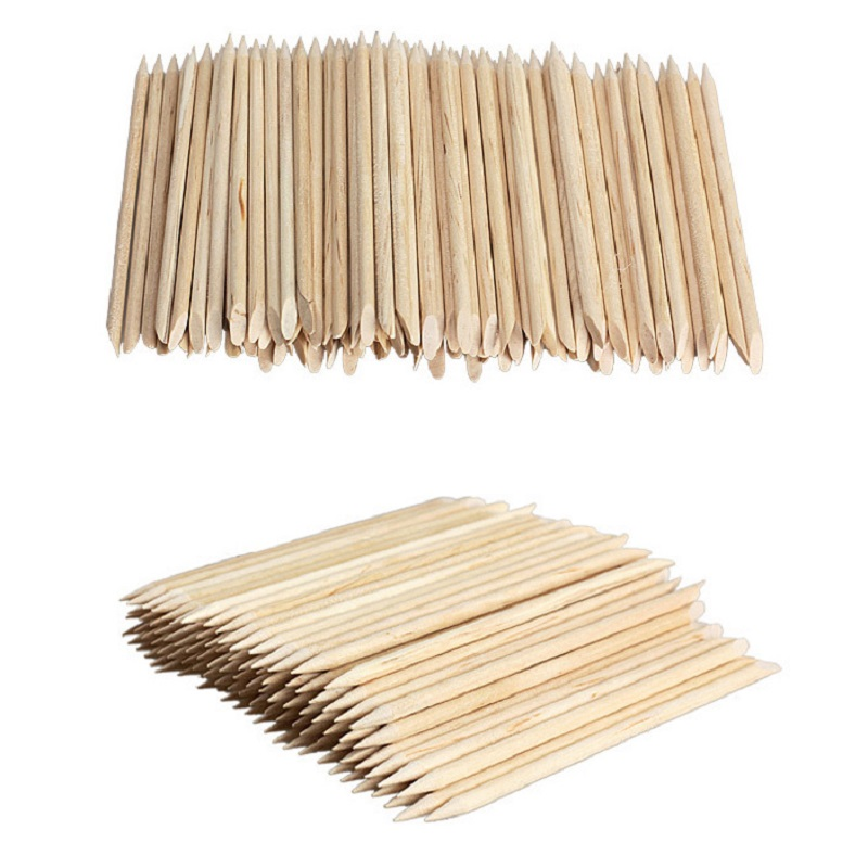 100pcs/lot 11.5cm Length Original Orange Wood Nail Art Tools New Orange Wood Material Sticks Cuticle Pusher Remover for Nails