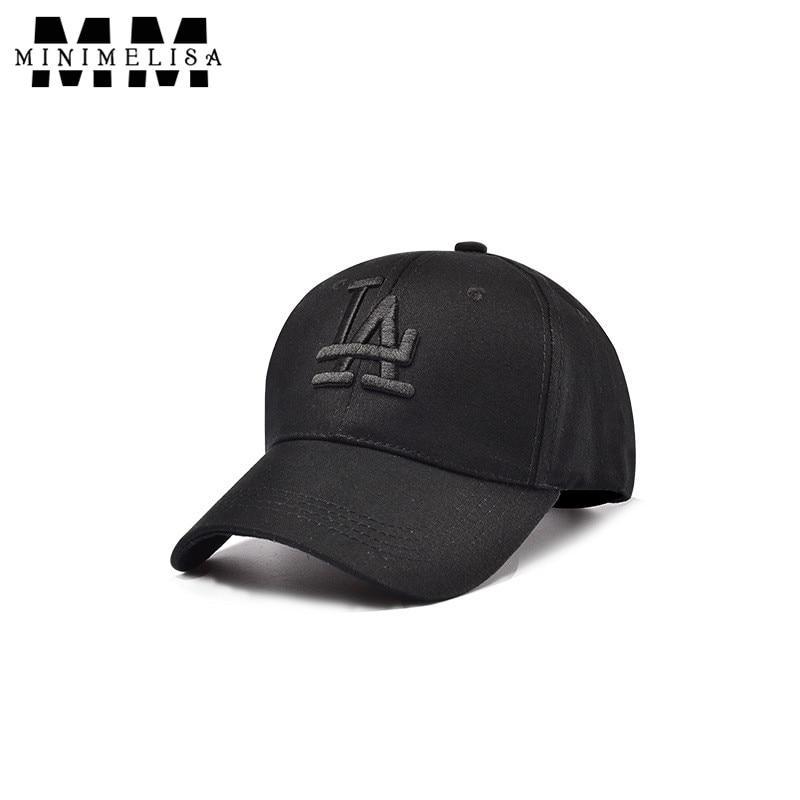 2018 LA Baseball Cap Men Sports Outdoor Hats Brand Ladies Casual Cap Cotton Adjustable 2 Color Unisex Caps High Quality adjustable cotton twill baseball cap w velcro closure