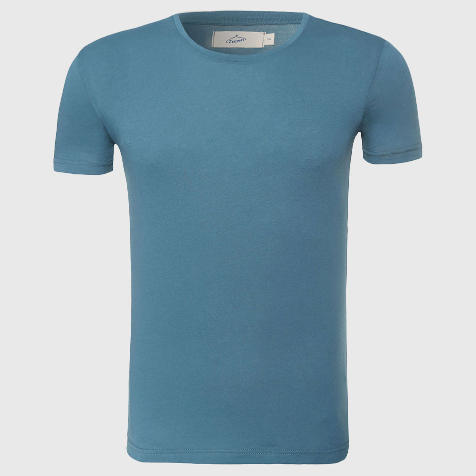 Effen Heren Top Tees Slim Fit Basic T-shirt Heren Katoenen T-shirt O - Herenkleding