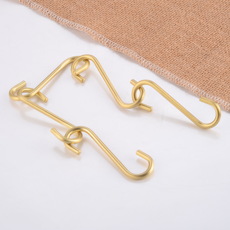 Robe Hook Brass Decorative Gold Coat Hooks Rack Hanger Single Bathroom Hook For Towels Hat Bag Clothes Rack Bathroom Accessories