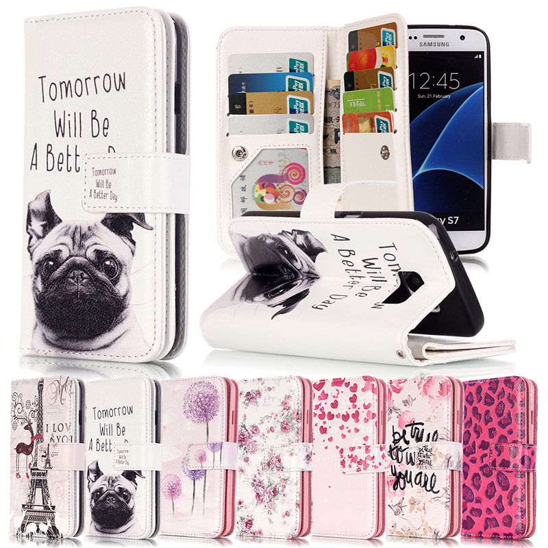 9 Card Holders Wallet <font><b>Case</b></font> for Samsung Galaxy J5 J7 2016 <font><b>Case</b></font> Luxury <font><b>Flip</b></font> Cover for Samsung Galaxy A3 A5 2016 J3 S5 S6 <font><b>S7</b></font> <font><b>Edge</b></font>