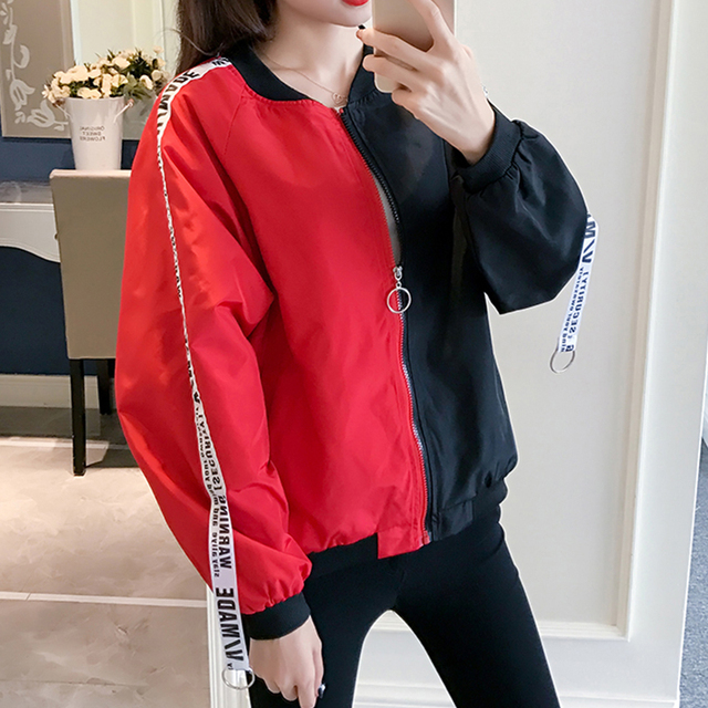 Blouson basique pour femmes, blouson imprimé Clown, coupe-vent Chic, mince, à la mode, manteau de Baseball féminin 5