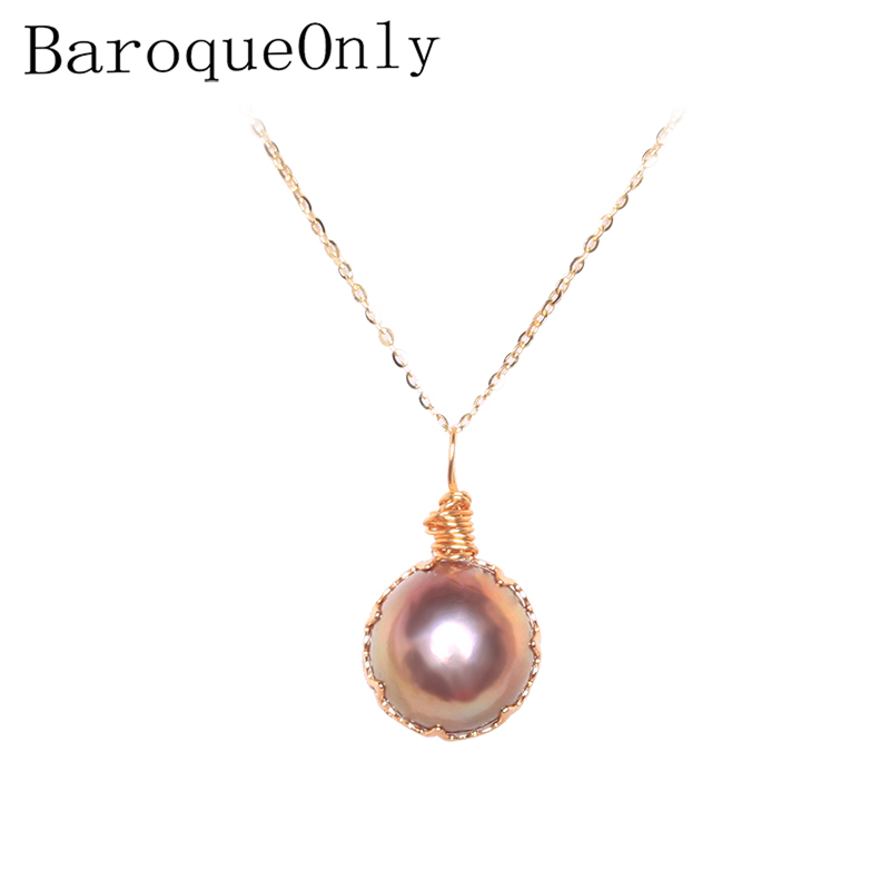 BaroqueOnly Handmade Lace Design Natural Freshwater Pearl Pendant Colorful Pearl Chocker Girl Neacklace 2019 New Arrivals PAN