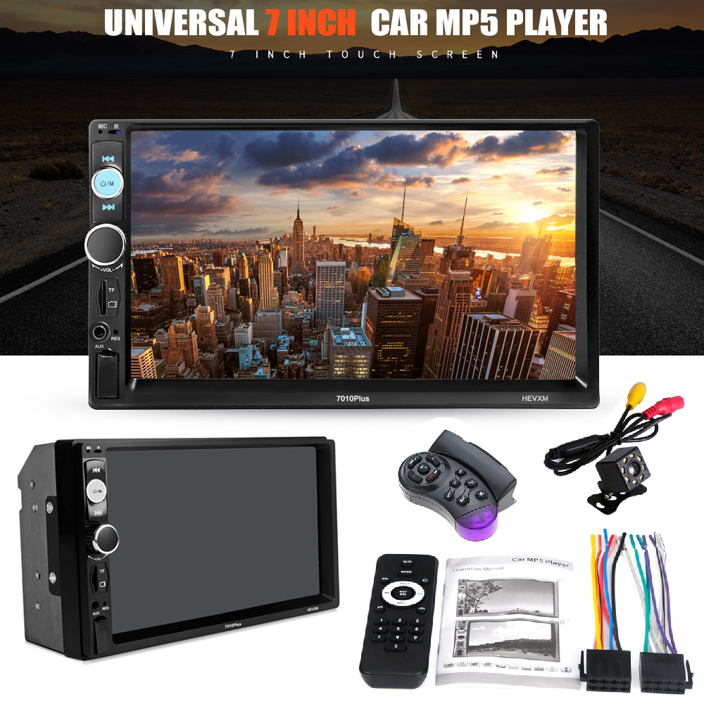 Wireless Bluetooth Automagnitola 2 Din Auto Radio Stereo Mp5 Multimidia Player 7in Touch Screen Car MP5 Player 7010 PLUS 2 din car radio mp5 player universal 7 inch hd bt usb tf fm aux input multimedia radio entertainment with rear view camera