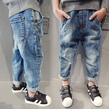 Boys Jeans 2018 Fashion Kids Trousers Spring Fall Children's Denim Leggings Child Blue Designed Clothes Autumn Pencil Pants Boys Jeans