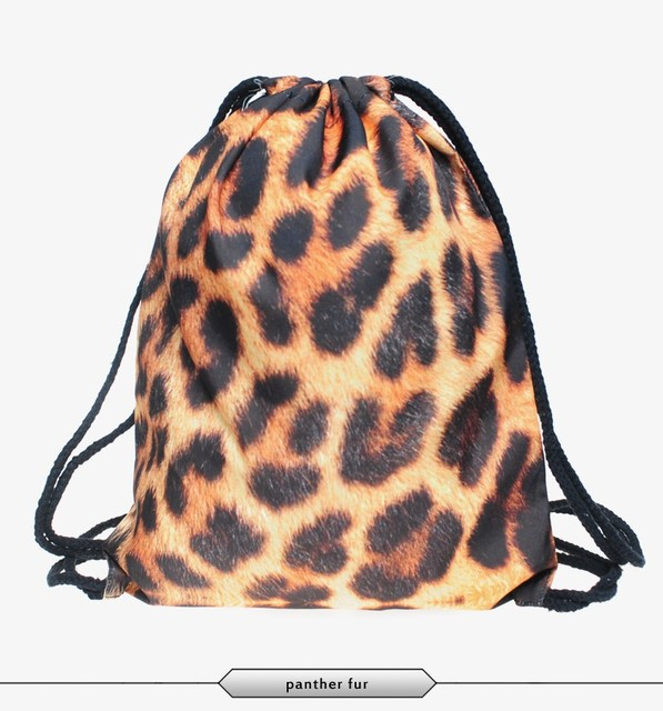 Softback Aztec Bag Escolar Backpacks Fashion Leopard Print Unisex 3D Print  Waterproof Swim Sport Drawstring Bag
