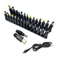 31pcs Universal Laptop DC Power Supply Adapter Connector Plug DC AC Jack Charger Connectors Laptop Power Adapter Conversion Head