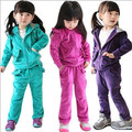 Menina define bebê meninas conjuntos primavera outono terno de veludo de jogos casuais criança
