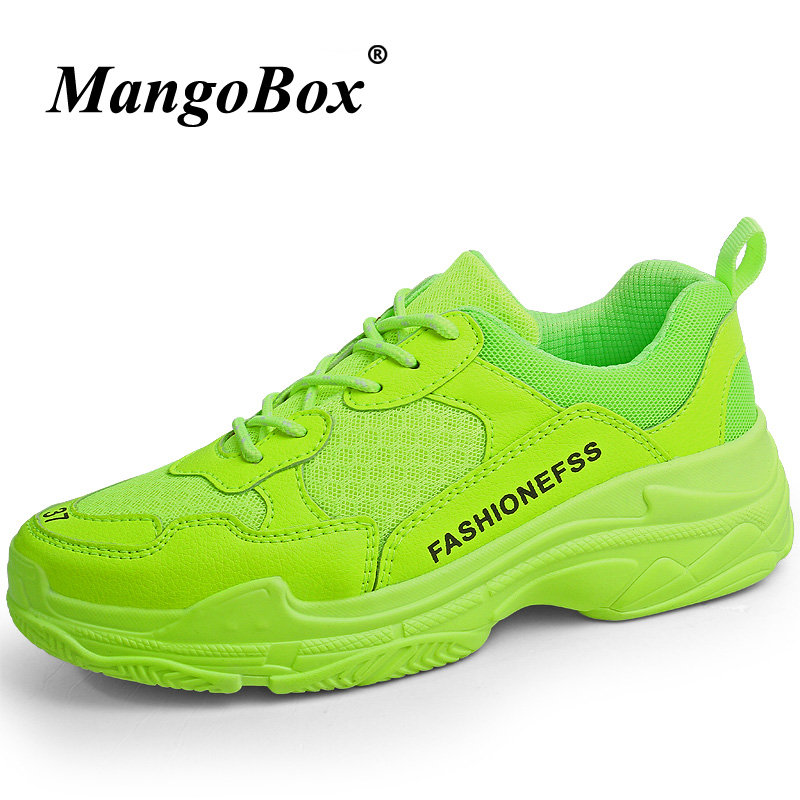 Super Cool Jogging Sneakers For Couples Designer Big Size Shoes Red Green Men And Women Outdoor Sports Shoes Brand Running Shoes