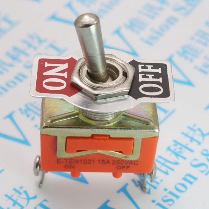 Promotion!!!!!  10 pcs Hot Sale Factory Direct Wholesale Industrial Toggle Switches 15A 250V AC E-TEN1021