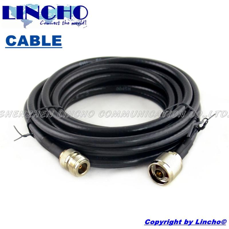 5 metros 50 ohm coaxial SYWV 50 5 exterior antena de cable de extensión N  macho a N mujer tipo en Antenas para Comunicaciones de Teléfonos y  Telecomunicaciones