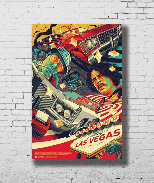 2abd2a6ed53b G-349 Fear and Loathing In Las Vegas Classic Movie Fabric Home Decoration Art  Poster Wall Canvas 12x18 20x30 24x36inch Print