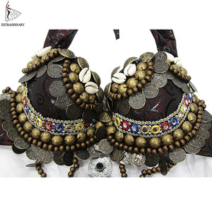 Image 4 - New Tribal Gypsy Bra Belly Dance ATS Bra Adjustable Women Hand Beading Bellydance Clothes Top Costumes Style Gypsy