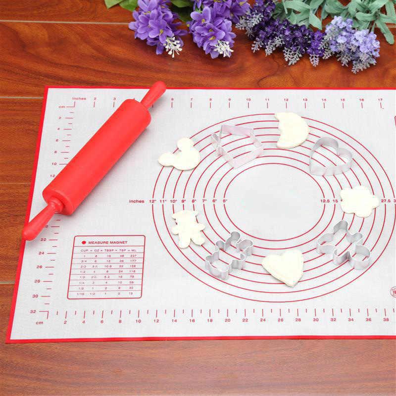 60*40 センチメートルノンスティックシリコーンベーキングマットパッドベーキングシートガラス繊維ローリング生地マットクッキーマカロンベーキングマットペストリーツール 15