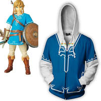 The Legend of Zelda: Breath of the Wild Cosplay Men clothing autumn 2018 fashion 3D printing zipper Hoodies Sweatshirts Jacket