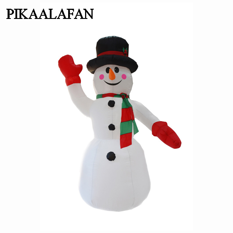 PIKAALAFAN Christmas Courtyard Decoration Gifts Large Inflatable Toys Christmas Snowman Model Santa Claus Air Model free shipping christmas inflatable snowman model decorative 4 meters high blow up snowman replica for event party toys