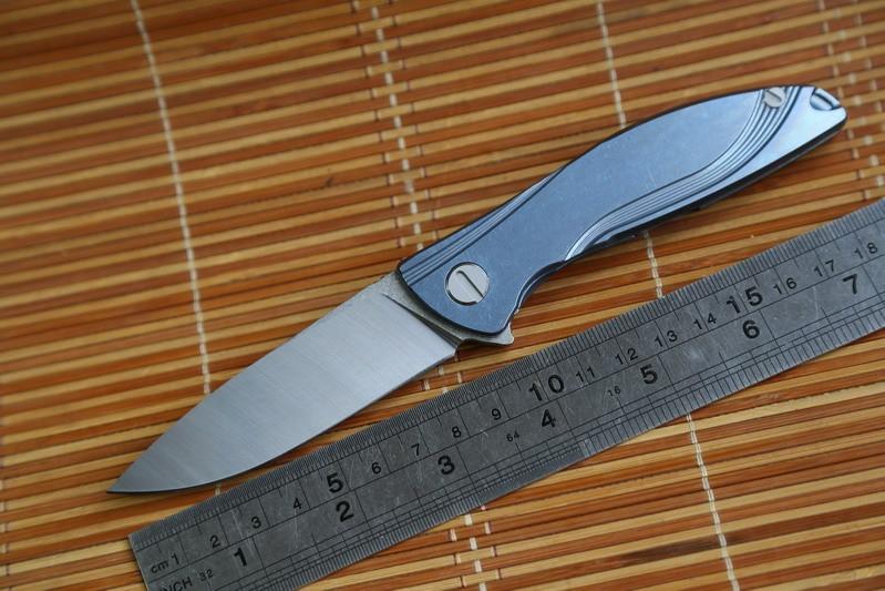 JUFULE Small Neon Dmitry Sinkevich Custom oem ball bearing D2 titanium flipper folding font b hunting