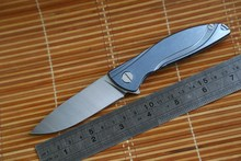 JUFULE Small Neon Dmitry Sinkevich Custom oem ball bearing D2 titanium flipper folding hunting outdoor survive knife EDC F3 tool