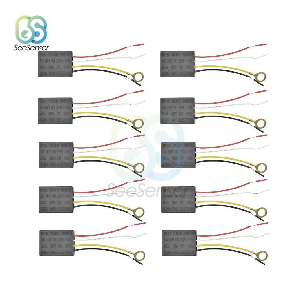 10Pcs AC 220V Lampe Touch Schalter Elektrische Ausrüstung Tisch Licht Teile Auf/off 1 Way Touch Control sensor Birne Lampe Schalter