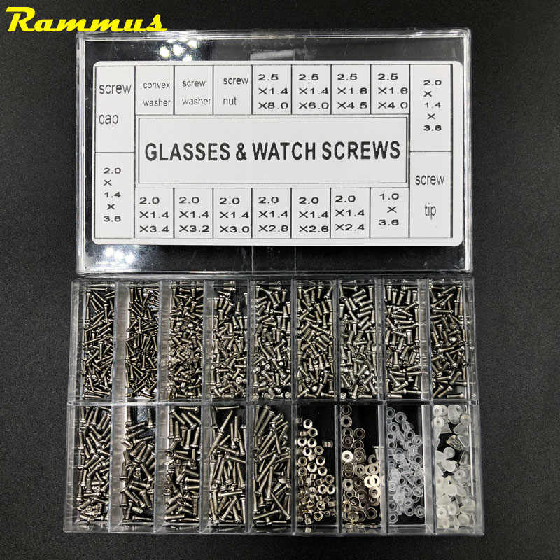 1000pcs Stainless Steel Micro Glasses Sunglass Watch Spectacles Phone Tablet Screws Nuts Screwdriver Set Kits Repair Tool Useful
