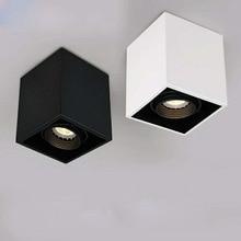 Высокое качество поверхностного монтажа 4 Регулировка азимута светодиодный удара светильники 85-265 V 10 w 15 W Светодиодный точечный потолочный светильник свет